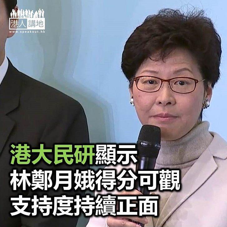 【焦點新聞】港大最新民調顯示 特首林鄭月娥民望上升