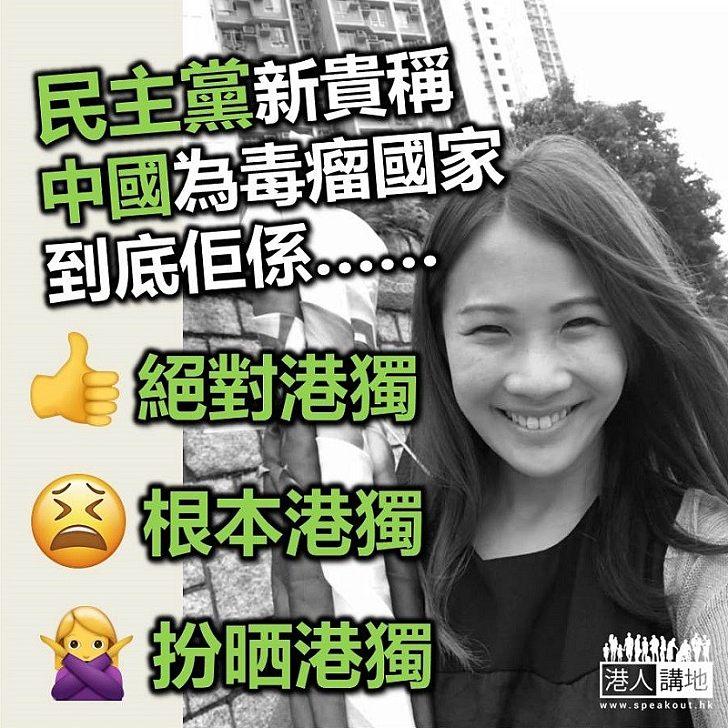 【暗搞港獨】投票:民主黨新一代稱中國為「毒癗國家」 大家認為佢有冇「港獨」傾向?