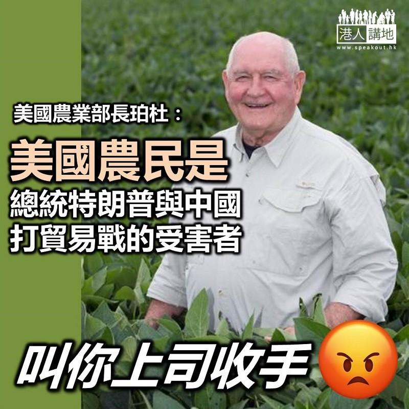 【中美貿易戰】美國有官員承認 該國農民乃中美貿易戰「最受打擊一群」