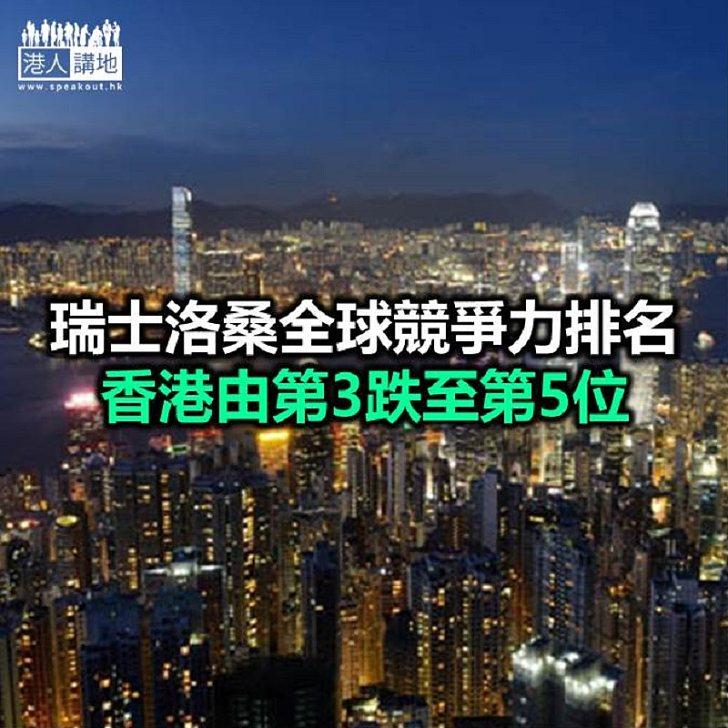 【焦點新聞】本港競爭力排名下跌 港府:訂立港區國安法有迫切性