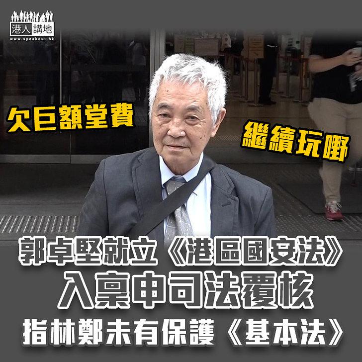 【港區國安法】郭卓堅就立國安法入稟申司法覆核 指林鄭未有保護《基本法》