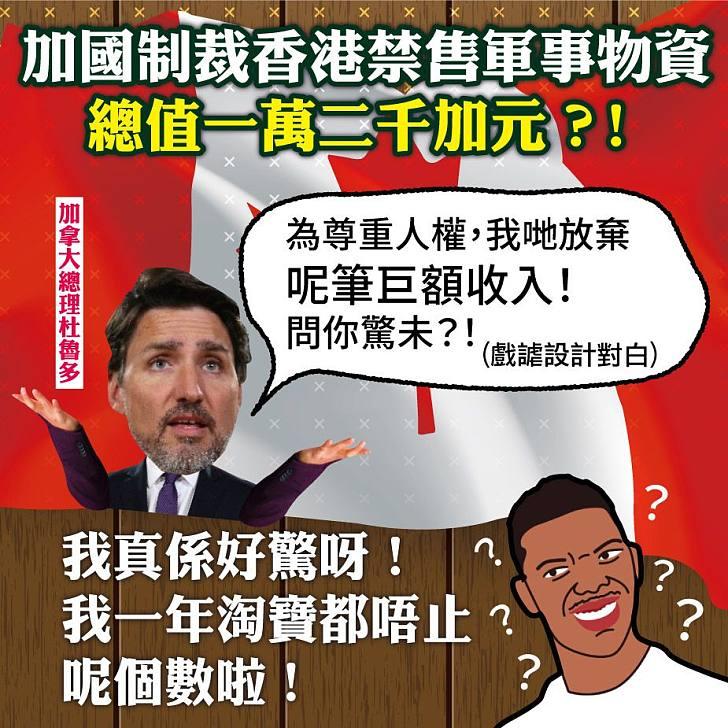 【今日網圖】加國制裁香港禁售軍事物資總值萬二加元?
