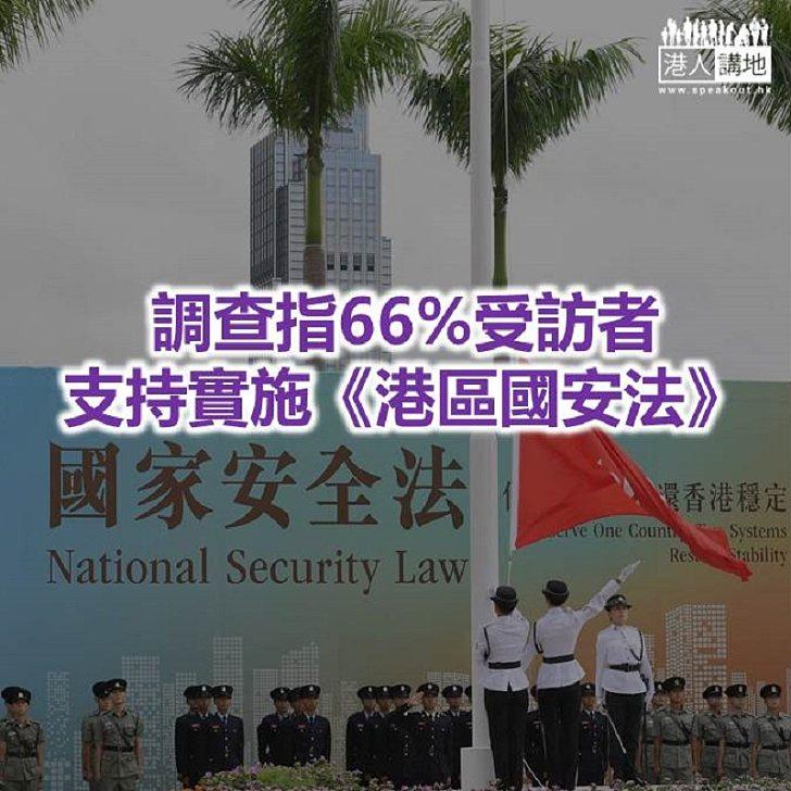 【焦點新聞】民調:支持《港區國安法》受訪者明顯增加