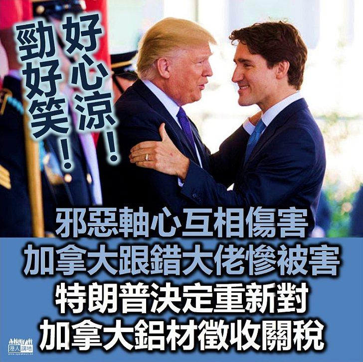 【狗咬狗骨】邪惡軸心互相傷害 特朗普決定重新對加拿大鋁材徵收關稅