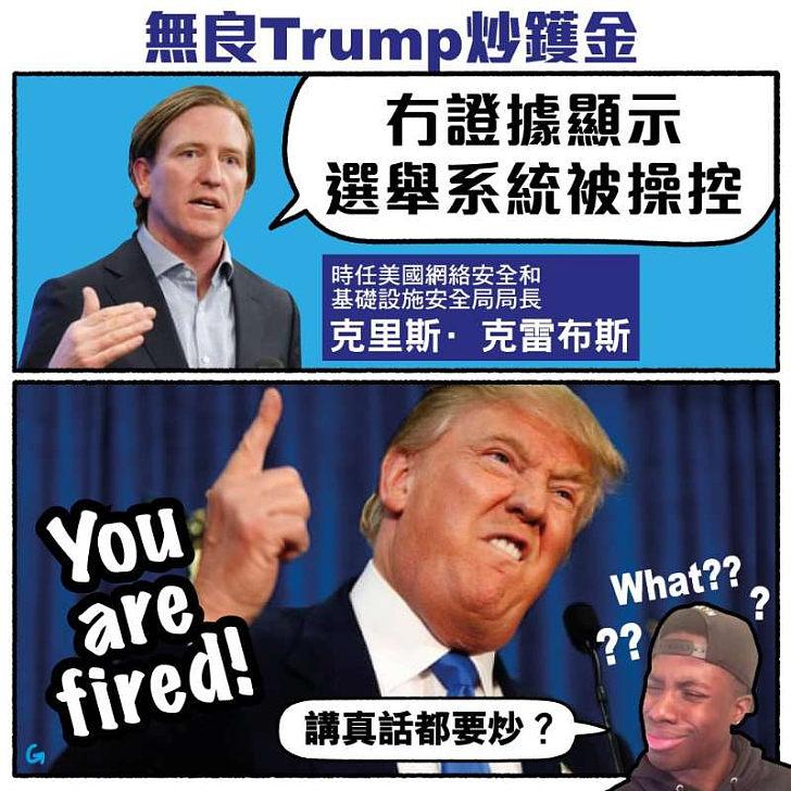 【今日網圖】無良Trump炒鑊金