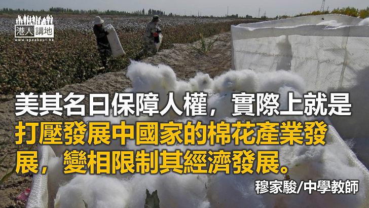 打擊新疆棉是西方圍堵中國的一步棋
