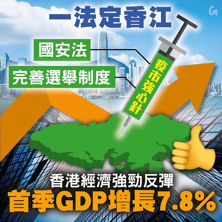 【今日網圖】一法定香江:香港GDP強勁反彈
