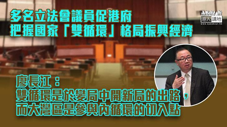 【融入國家發展】多名立法會議員促港府把握國家「雙循環」格局振興經濟