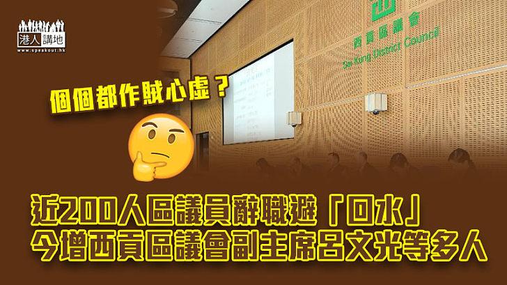 【區議員辭職潮】西貢區議會副主席呂文光等多人宣布辭任