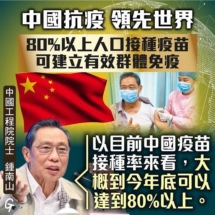 【今日網圖】中國抗疫 領先世界
