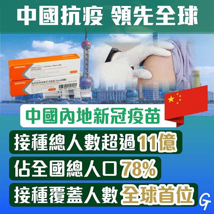 【今日網圖】中國抗疫 領先全球